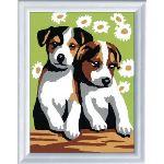 Ravensburger Peinture au numéro : Deux petits chiots