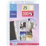 Viquel 011316 - Paquet de 25 pochettes perforees pour photos en polypropylène (10 x 15 cm)