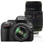 Nikon D5200 (avec 2 objectifs 18-55mm et Tamron 70-300mm)