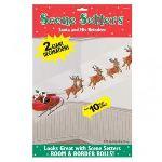 2 décorations murales : Père Noël et son traîneau
