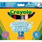 Crayola 12 feutres à colorier ultra lavables