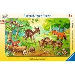 Ravensburger Puzzle cadre : Petits animaux de la forêt 15 pièces