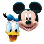 4 masques Mickey Mouse