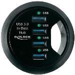 Delock 61989 - Hub de bureau 4 ports USB 3.0