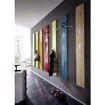 Porte-manteau mural Colorado en bois à 3 accroches rabattables (170 cm)
