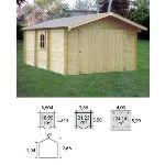 Decor et jardin 81801SZ00 - Garage en bois massif 44 mm 21,23 m2
