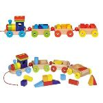 Goki 55950 - Train Orlando avec 14 cubes de construction