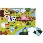 Janod Puzzle tactile géant La ferme