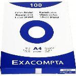 Exacompta 13336E - Etui de 100 fiches bristol 205 g uni non perforées (A4)