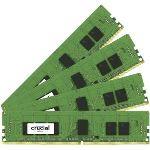 Crucial CT4K4G4DFS8213 - Barrettes mémoire 4 x 4 Go DDR4 2133 MHz CL15 Unbuffered SR X8
