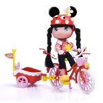 Famosa I Love Minnie avec bicyclette