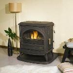 Godin 366102 - Poêle à bois Petit Carvin 10,5 kw (Habillage fonte émaillée)