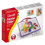 Quercetti Jeu de mosaïques - Fantacolor Portable Small 0924 (100 clous)