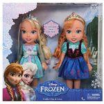 Taldec Coffret Poupée Elsa et Anna La Reine des Neiges 33 cm