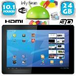 """Yonis Y-tta10.1hdmi24go - Tablette tactile 10"""" 3D HDMI sous Android 4.1 Jelly Bean (8 Go interne + Micro SD 16 Go)"""
