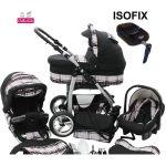 Chilly Kids Dino Isofix - Poussette canne combinée 3 en 1 avec nacelle et siège auto cosy