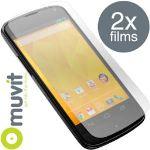 Muvit MUSCP0299 - Lot de 2 films protecteur d´écran  LG Google Nexus 4