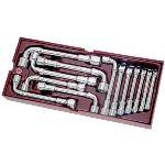 Kraftwerk 4900-48B - Coquille Completo de 13 clés à pipe débouchées 6 pans