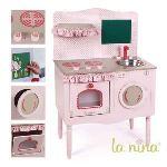 La nina Cuisine en bois rose pour poupée (Grand modèle)