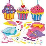 Baker Ross Kit de couture : Cupcake décoratif