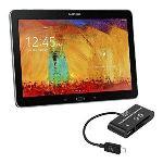 Kwmobile 18635 - Adaptateur Micro USB lecteur de carte USB-OTG pour Samsung Galaxy Note 10.1 P600 Edition 2014
