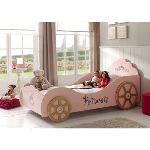 Vipack Lit voiture Princesse pour fille 90 x 200 cm