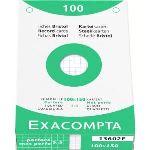 Exacompta Etui de 100 fiches bristol 205 g quadrillée 5x5 et perforées (100 x 150 mm)
