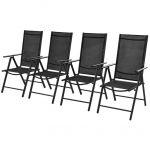 VidaXL Chaises d'extérieur 4 pièces 54 x 73 x 107 cm aluminium