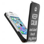 Avizar HCU-CALM-BK-IP4 - Étui à clapet pour iPhone 4S