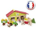 Jeujura Ferme avec tracteur et animaux (140 pièces)