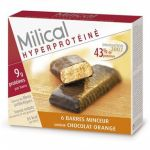 Milical Barre minceur chocolat orange , 6 barres
