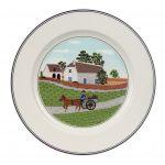 Villeroy & Boch 6 assiettes à dessert rondes Design Naif en porcelaine (21 cm)