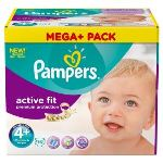 Pampers Active Fit taille 4+ Maxi+ (9-20 kg) - Pack Mega Plus 76 couches