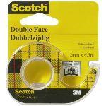 3M D665H12 - Ruban adhésif double face avec dévidoir (12 mm x 6,3 m)