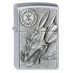 Zippo 200 - Briquet à essence Dragon avec amulette