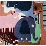 Art For Kids Tapis Puzzle animaux en acrylique (120 X 135 cm)