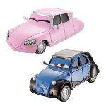 Mattel Cars 2 véhicules Nancy et John pour circuits Bienvenue a Radiator Spring et Petite course à Radiator Spring