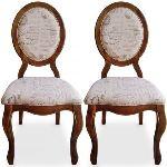 Sylva - 2 chaises médaillon en tissu
