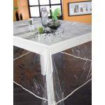 Calitex Translucide Uni - Nappe rectangulaire en plastique (140 x 250 cm)