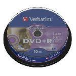 Verbatim 43576 - 10 x DVD+R 4.7 Go 16x LightScribe V1.2 (spindle)