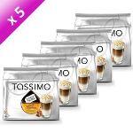 Tassimo 5 paquets de 8 dosettes T-Discs Latte Macchiato caramel