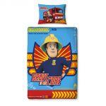 Character World Fireman Sam Brave - Housse de couette et taie (135 x 200 cm)