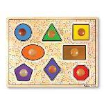 Melissa & Doug Puzzle à gros boutons: Formes géométriques 8 pièces