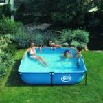 Gre Piscine tubulaire Jet Pool Junior carré 125 x 125 x 35 cm