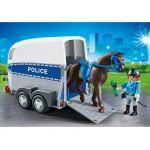 Playmobil 6922 City Action - Policière avec cheval et remorque