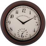 Esschert design Horloge d'extérieur avec thermomètre