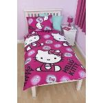Character World Hello Kitty - Housse de couette réversible avec taie (135 x 200 cm)