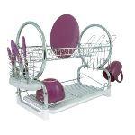 Premier housewares Egouttoir à vaisselle 2 niveaux plateau amovible