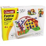 Quercetti Jeu de mosaïques - Fantacolor portable Large (300 clous)