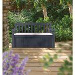 Chalet et Jardin Banc-coffre de rangement 265 L - 140 x 60 x 84 cm